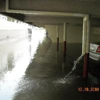 Flooded Parking Area